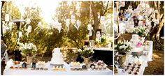 Highland Springs Resort Reception Dessert Table. Individual pastries. Tent chalk board signs. Brady Puryear Photography
