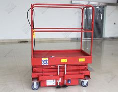 Small mobile scissor lift for sale. With 3m lift height, 1.2*0.7m table size, 300kg load capacity. Brake pad on wheels guarantee good stability of whole machine when work. Welcome to contact us: Email: mf@sinicmech.com Skype: mf.sinicmech.com