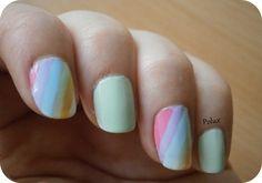 Rainbow nails  http://lesonglesenchantesdepolux.blogspot.fr/2013/06/ongles-arc-en-ciel.html