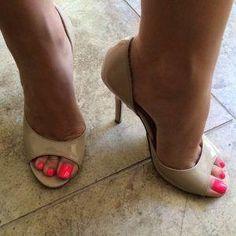Only Sexy Feet & Toes — crazysexytoes: Beautiful Open Toe High Heels, Hot High Heels, High Heel Boots, Stilettos, Stiletto Heels, Pumps, Nylons, Beautiful High Heels, Sexy Legs And Heels