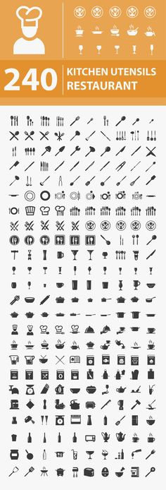 240 Free Kitchen / Restaurant Icons