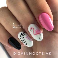 Efekt Flaminga na Paznokciach – TOP 20 Cudownych Propozycji Idealnych na Lato! - All For Hair Color Trending Summer Acrylic Nails, Cute Acrylic Nails, Summer Nails, Cute Nails, Pretty Nails, Pink Nails, My Nails, Nail Manicure, Nail Polish