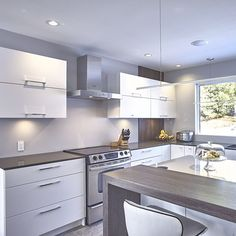 Modern Luxury Kitchens For A Grand Kitchen Modern Kitchen Interiors, Luxury Kitchen Design, Modern Kitchen Cabinets, Big Kitchen, Best Kitchen Designs, Luxury Kitchens, Cool Kitchens, Kitchen Decor, Kitchen Armoire