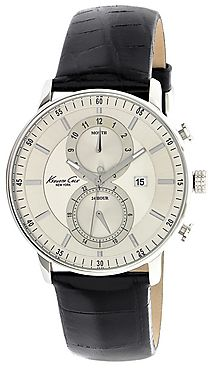 Kenneth Cole Black Leather Analog Men Watch - 100IKC1779