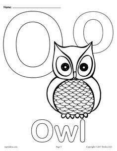 These fun and easy alphabet coloring pages are a great way for little ones to become familiar with the letter O! There are three unique letter O coloring pages included in this printable - one with. Kindergarten Coloring Pages, Birthday Coloring Pages, Alphabet Coloring Pages, Cool Coloring Pages, Animal Coloring Pages, Coloring Sheets, Coloring Letters, Kids Coloring, Letter O Activities