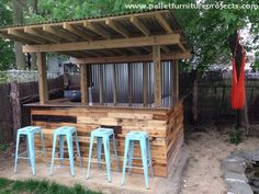 pallet recycled outdoor bar