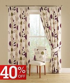 Pencil Pleat Curtains | Montgomery Curtains | Fast UK Delivery