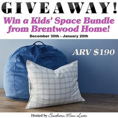 Kids' Space Bundle Giveaway!  They'll love this Bean Bag + Pillow