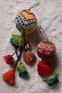Embroidered Air Balloon Ornament