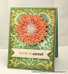 HA fabric design background stamp and PTI Mums