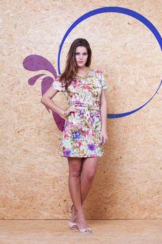 Vestido Malha Crepe Estampado VVE 208 #mundoErreErre #lookbook #verao2015 www.erreerre.com.br