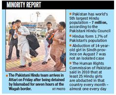 In the backdrop of a 14-year-old #Hindu girl's abduction in #Pakistan's Jacobabad city in Sindh province  3 days ago, a controversy erupted when a delegation of 150 Hindus was detained by Islamabad for 7 hours on Friday before being allowed to enter India for a pilgrimage. Before leaving Pakistan, members of the delegation had to give an undertaking to the authorities that they would not seek asylum from the Indian government and would under all circumstances return to Pakistan within 30…