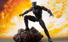 Télécharger fonds d'écran Panthère noire, de Caractère, de super-héros, 3d, illustration, de la bande dessinée