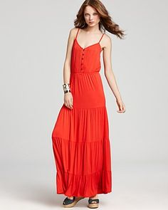 Ella Moss Dress - Girl's Best Friend Button Maxi Dress