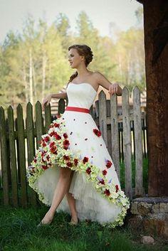 suknia ślubna Flora góralska, salon afrodyta
