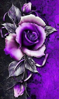 19 Ideas For Wall Paper Flowers Purple Roses Purple Roses Wallpaper, Butterfly Wallpaper, Purple Roses Images, Rainbow Wallpaper, Red Roses, Purple Love, All Things Purple, Rose Violette, Mason Jar Gifts