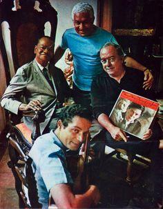 Pixinguinha, Dorival Caymmi, Vinicius de Moraes, Baden Powell & Tom Jobim (na capa do LP). Foto do meu mestre David Drew Zingg.