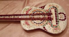 """Just listed Handmade Mosaic Guitar """"Broken Songs and Melodies"""" on Handmade Artists' Shop"""