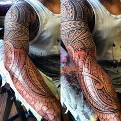 Sleeve Hawaiian Islands Men's Tattoo Designs
