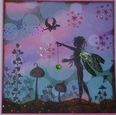 Lavinia Stamps...Freya Glitter and Gems Challenge #10 Bokeh background