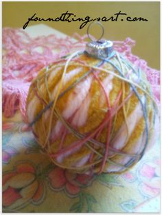 Inexpensive Gifts for the Vintage Yarn Lover! YarnBall ornament #crochet #knit $6