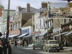 High St c 50s/60s Watford, Street View, England, Childhood Memories, Places, Nostalgia, English, British, United Kingdom
