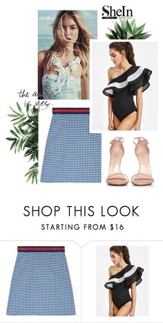 """Shein Contest"" by feather-fashion ❤ liked on Polyvore featuring Gucci and Stuart Weitzman"
