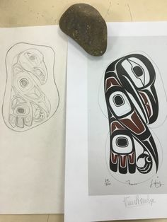 Haida Rock Art, Drawing Progress