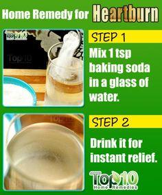 Baking Soda Instant Heartburn Relief