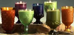 Find unique vintage glassware and turn them into candles. I love Love LOVE this idea! These would make fantastic gifts too 😉🕯💖 Vintage Candles, Vintage Glassware, Bazaar Crafts, Soy Wax Candles, Unique Vintage, Upcycle, Container, Pottery, Tableware