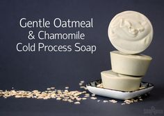 Gentle Oatmeal & Chamomile Cold Process Soap for babys or sensitive skin Soap For Sensitive Skin, Baby Bar, Homemade Soap Recipes, Homemade Products, Homemade Baby, Oatmeal Soap, Soap Tutorial, Baby Lotion, Goat Milk Soap