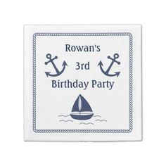 #Nautical Birthday Party Napkins - #birthday #gift #present #giftidea #idea #gifts
