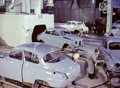 1960: A day at the SAAB factory http://www.saabplanet.com/1960-a-day-at-the-saab-factory/