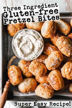 Gluten Free Pretzels, Gluten Free Snacks, Foods With Gluten, Gluten Free Baking, Healthy Baking, Easy Gluten Free Recipes, Fun Recipes, Recipe Ideas, Vegetarian Recipes