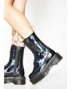 Current Mood Toxic Slime Combat Boots | Dolls Kill #DocMartensstyle
