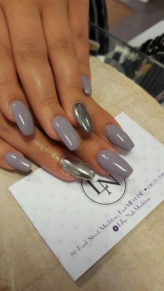Chrome Nails. Lillys Nails Maidstone