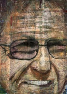 Old man in glasses using pastels on painted canvas  Old man in glasses using pastels on painted canvas Gallery quality print on thick 45cm / 32cm metal plate. Each Displate print verified by the Production Master. Signature and hologram added to the back of each plate for added authenticity & collectors value. Magnetic mounting system included.  EUR 39.00  Meer informatie