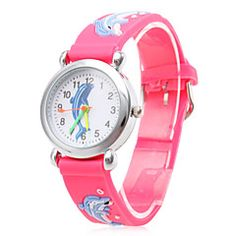 Children's Cartoon Dolphin Pattern Red Silicone Band Quartz Analog Wrist Watch. Get thrilling discounts up to 60% Off at Light in the Box using Coupons & Promo Codes.