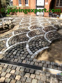 Where's me maul?: Not fannying around - Hof Stone Driveway, Brick Walkway, Stone Path, Cobblestone Paving, Garden Pavers, Outdoor Walkway, Concrete Driveways, Walkways, Paving Stones