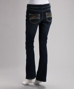 Take a look at this Vanilla Star Denim Medium Blue Bootcut Jeans by Vanilla Star Denim on #zulily today!