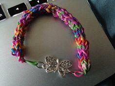 Butterfly Rubberband Bracelet. $5.00