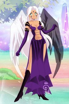 Urd from Oh My Goddess. Version two. Made by Shannon Stickel using doll divine's senshi maker.