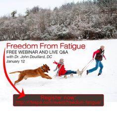 Register for this FREE webinar now! http://lifespa.com/event/freedom-fatigue/