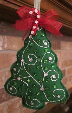 Felt christmas tree tree decoration