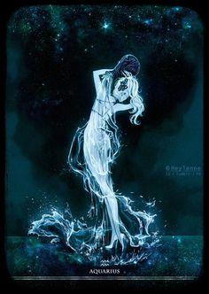 Aquarius by Heylenne on DeviantArt Aquarius Art, Aquarius Tattoo, Age Of Aquarius, Capricorn And Aquarius, Art Zodiaque, Aquarius Aesthetic, Zodiac Characters, Dark Pictures, Dark Pics