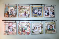 Great idea for displaying favorite layouts.   (I always did say the best scrapbook pages should be enjoyed every day, not hidden in a book!)
