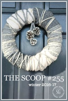 52 Beautiful Christmas Wreaths for your Front Door - Happily Ever After, Etc. Christmas Mesh Wreaths, Fall Wreaths, Christmas Crafts, Christmas Decorations, Floral Wreaths, Prim Christmas, Wreath Crafts, Diy Wreath, Wreaths For Front Door
