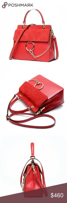 HAUT-TON Genuine Leather 100% Authentic Handbag Top high quality cowhide genuine leather bag  Top handle and adjustable crossbody strap Produced by HAUT-TON company, European popular fashion style  Brand new with all tags HAUT-TON  Bags Satchels