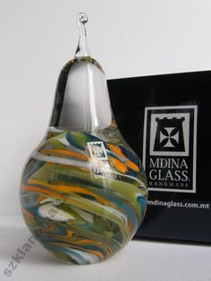 Gruszka figurka szklana Mdina Glass PROMOCJA -8%