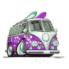 Purple VW Campervan